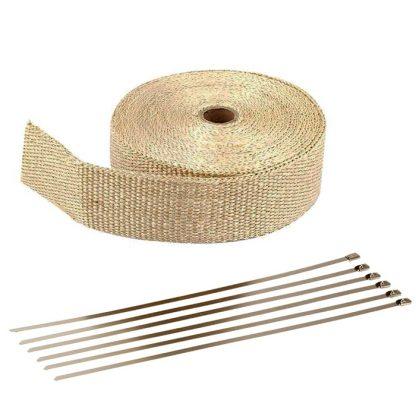 avgasbandage 10m glasfiber beige guld