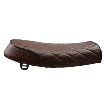 mörkbrunt rutigt säte för scrambler sidan