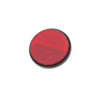 rund röd E-märkt reflex för motorcykel