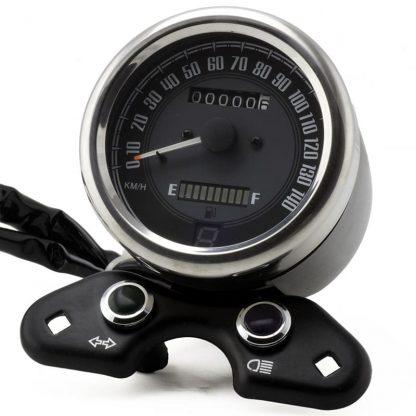 Retro hastighetsmätare med växelindikator och USB