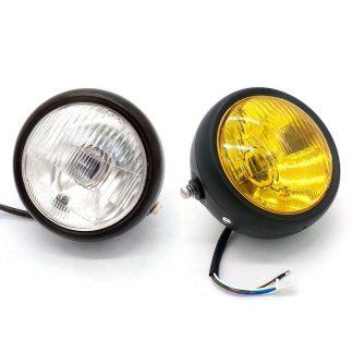 Framlyse för motorcykel, gult ljus med galler