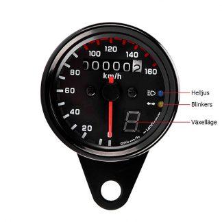 Hastighetsmätare med växellägesvisare