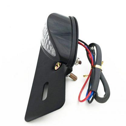 E-märkt LED-bakljus för motorcykel rökfärgat sidan