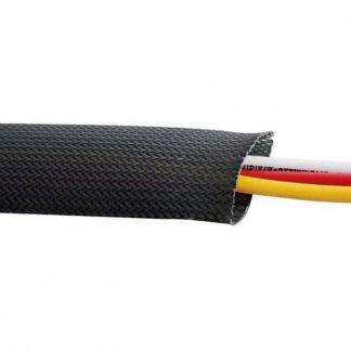 flätad kabelstrumpa för skydd av ledningar på motorcykel
