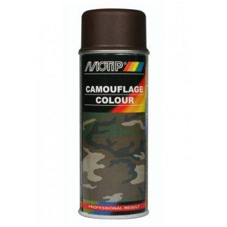 Kamouflagefärg spray brun Motip RAL8027 kallad mud brown